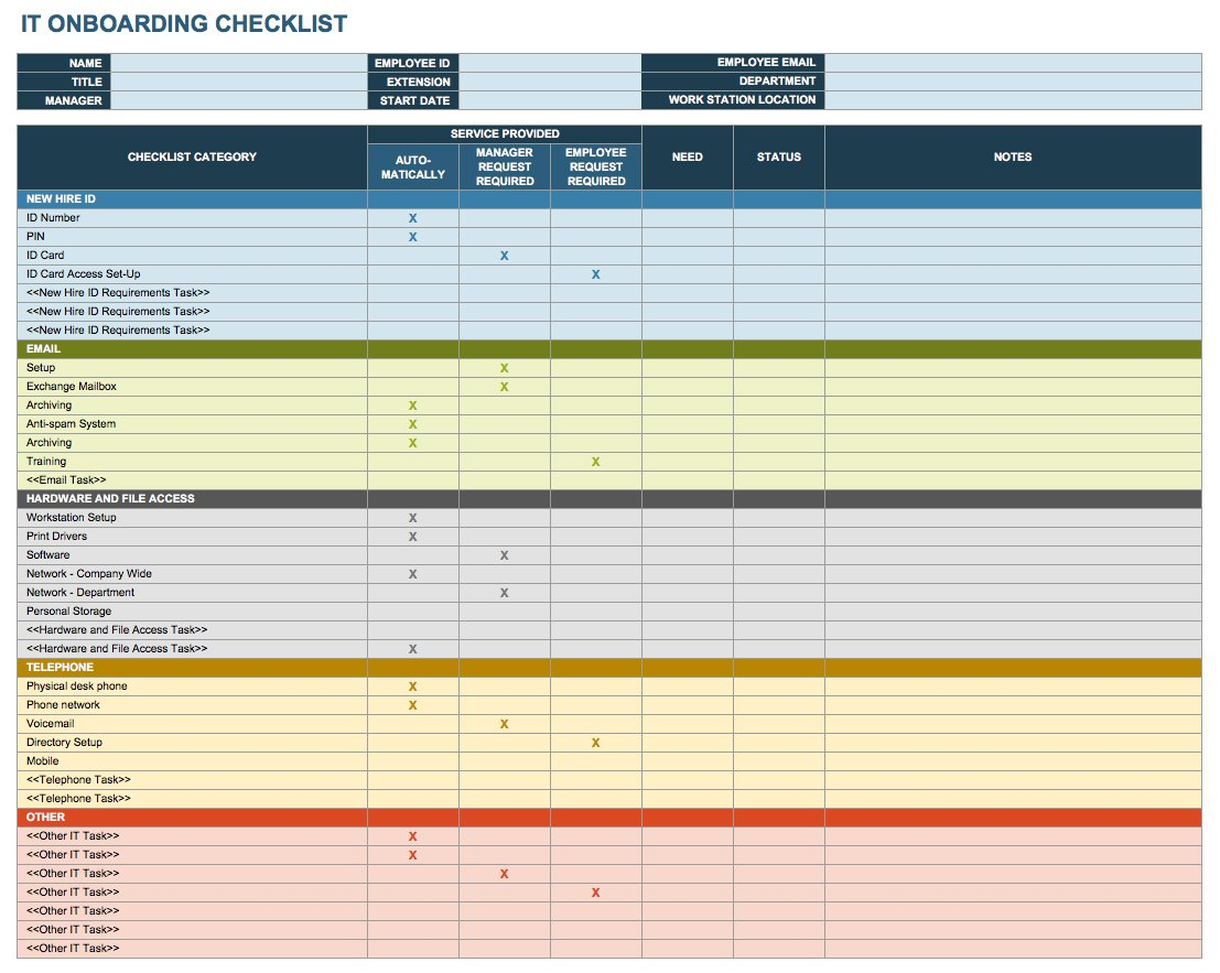 Document Of Onboarding Template Excel With Onboarding Template Excel Download
