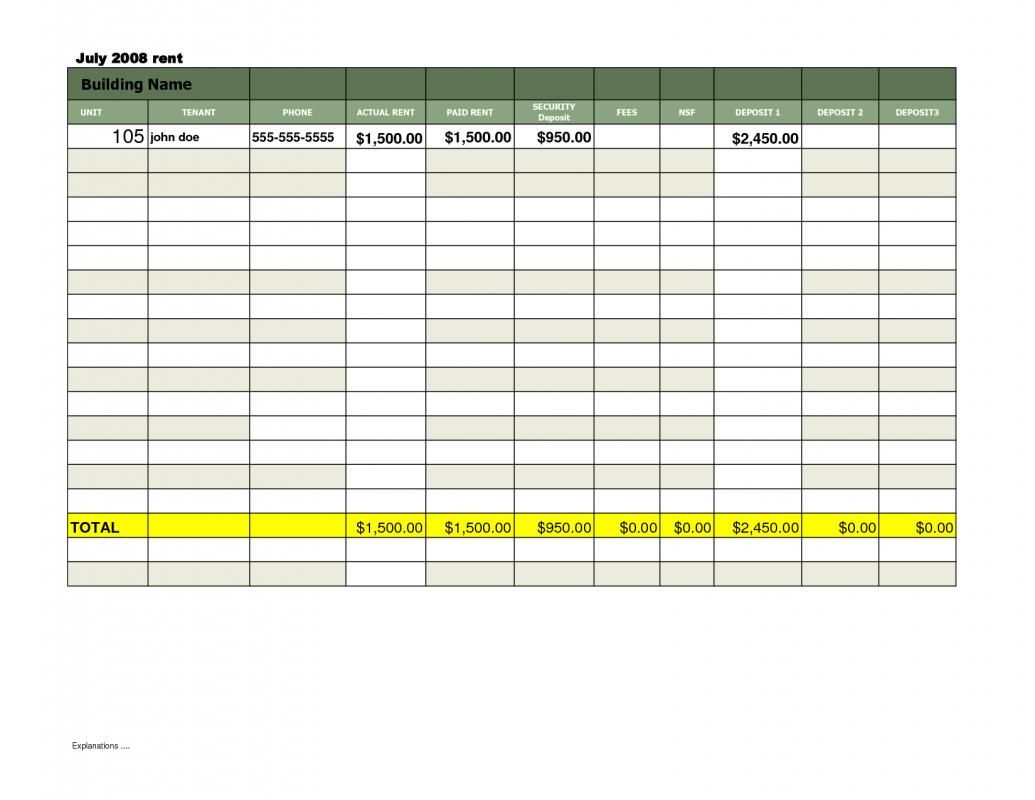Document Of Rent Payment Excel Spreadsheet With Rent Payment Excel Spreadsheet Download For Free