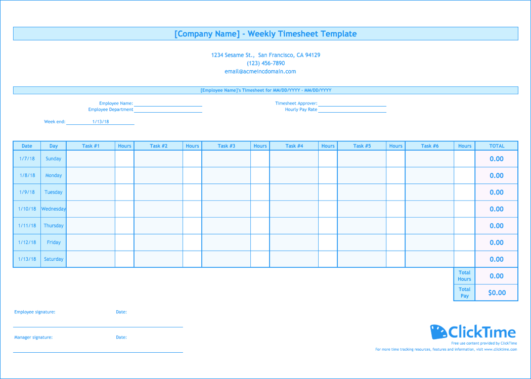 Document Of Weekly Timesheet Template Excel Intended For Weekly Timesheet Template Excel Printable