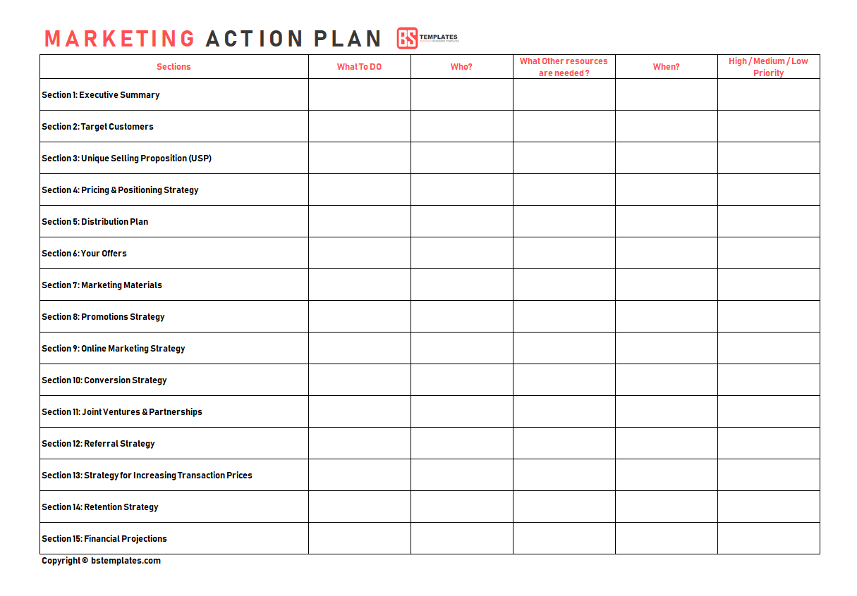 Documents Of Action Plan Template Excel Intended For Action Plan Template Excel Form