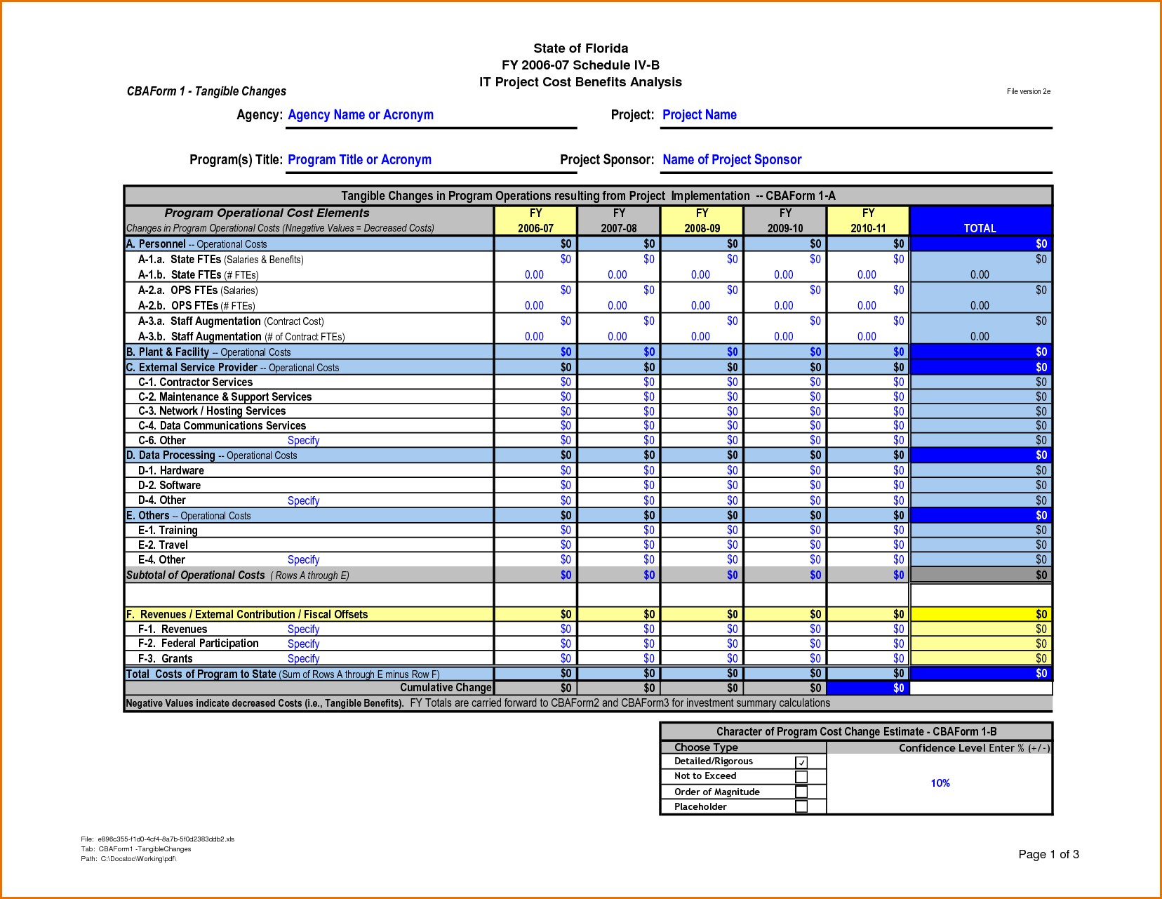 Documents Of Cost Analysis Template Excel In Cost Analysis Template Excel In Workshhet