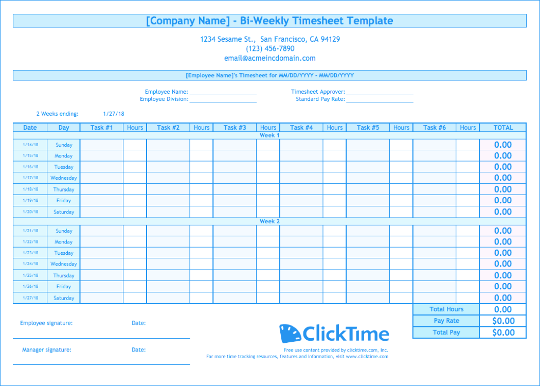 Documents Of Excel Biweekly Timesheet Template With Formulas In Excel Biweekly Timesheet Template With Formulas Samples