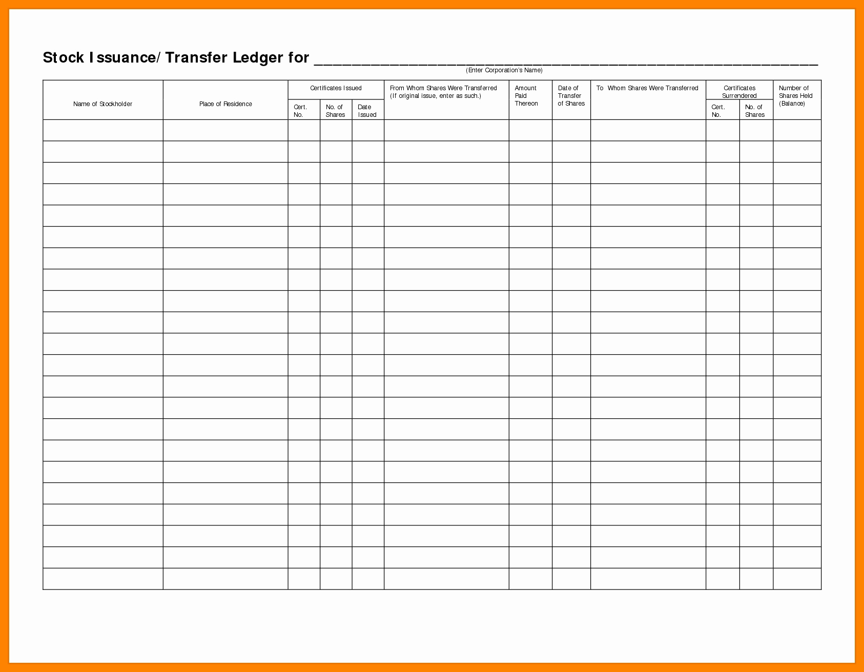 Documents Of Excel Ledger Template Throughout Excel Ledger Template Document