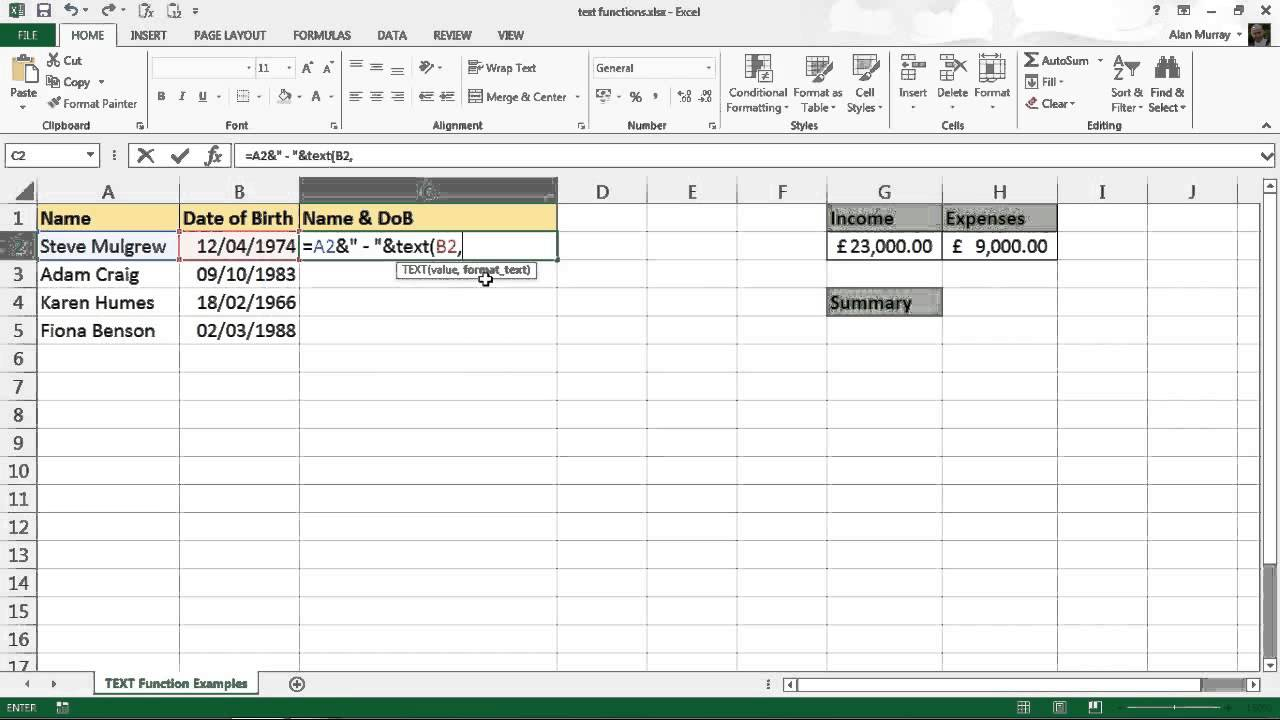 Documents Of Excel Text Function Format In Excel Text Function Format Free Download