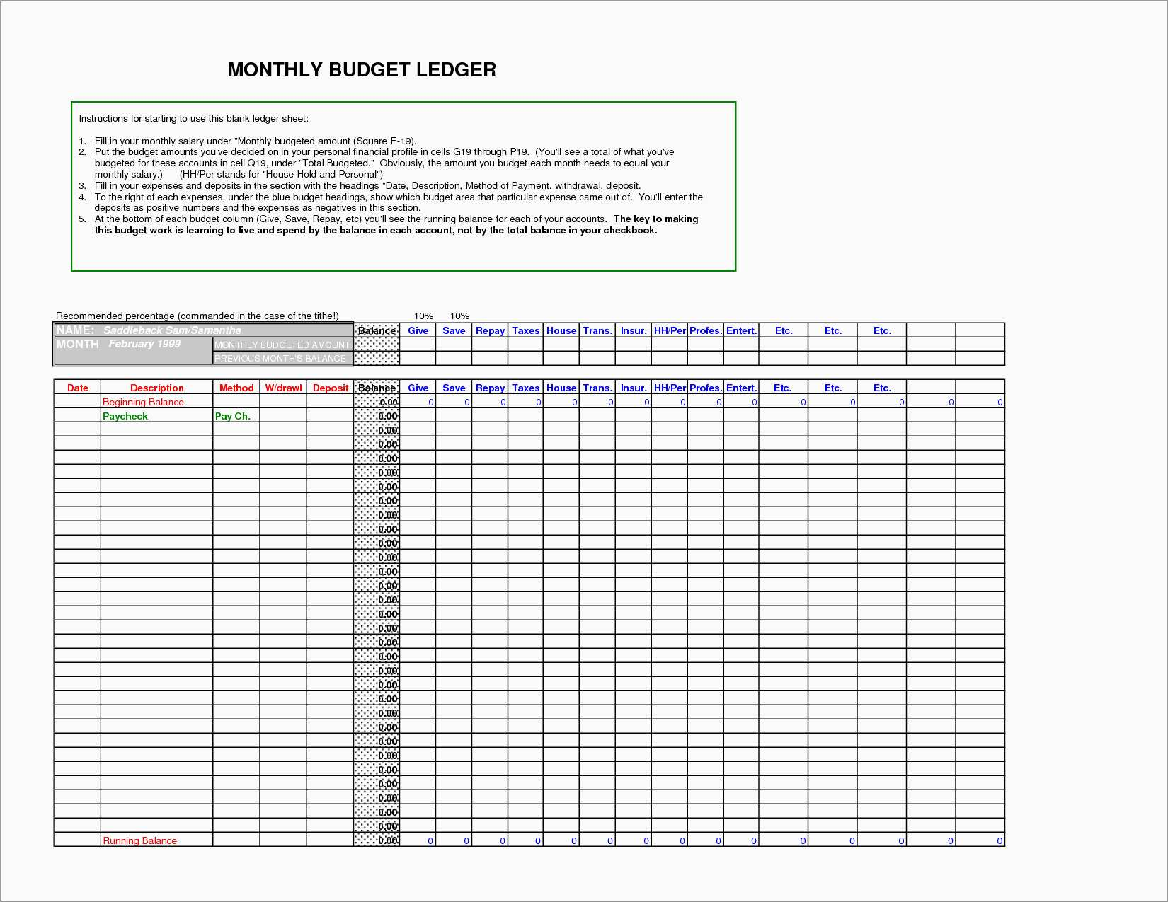Documents Of General Ledger Template Excel Within General Ledger Template Excel In Excel