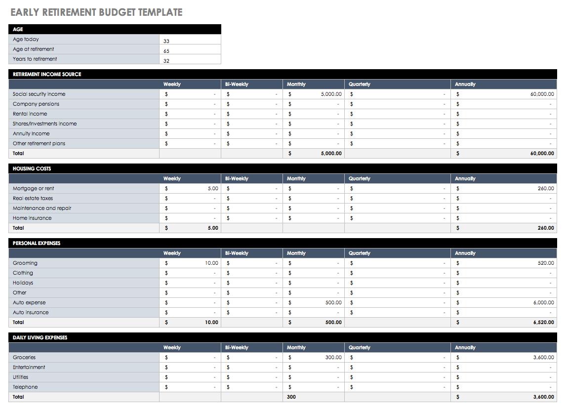 Documents Of Retirement Budget Worksheet Excel Inside Retirement Budget Worksheet Excel Sample