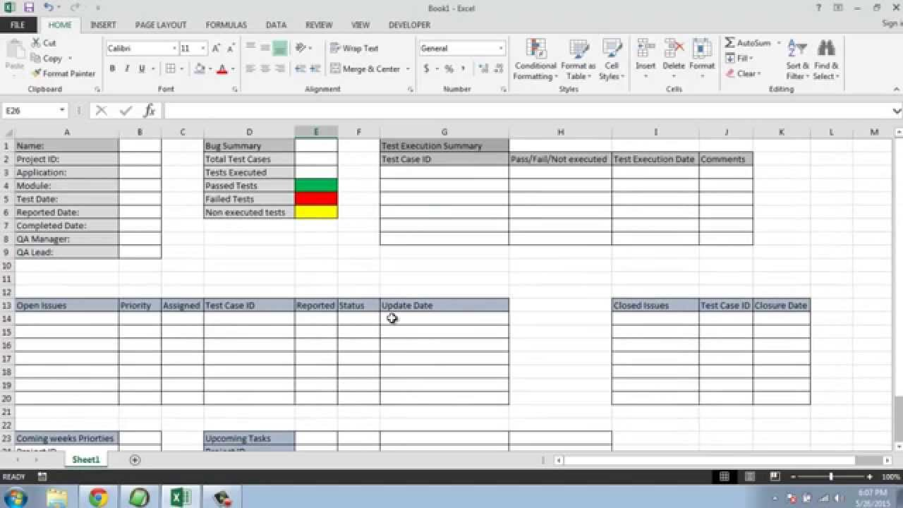 Documents Of Test Execution Status Report Template In Excel Throughout Test Execution Status Report Template In Excel Examples