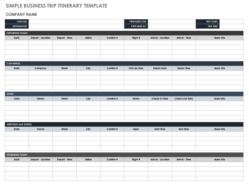 Documents Of Travel Itinerary Template Excel In Travel Itinerary Template Excel Sample