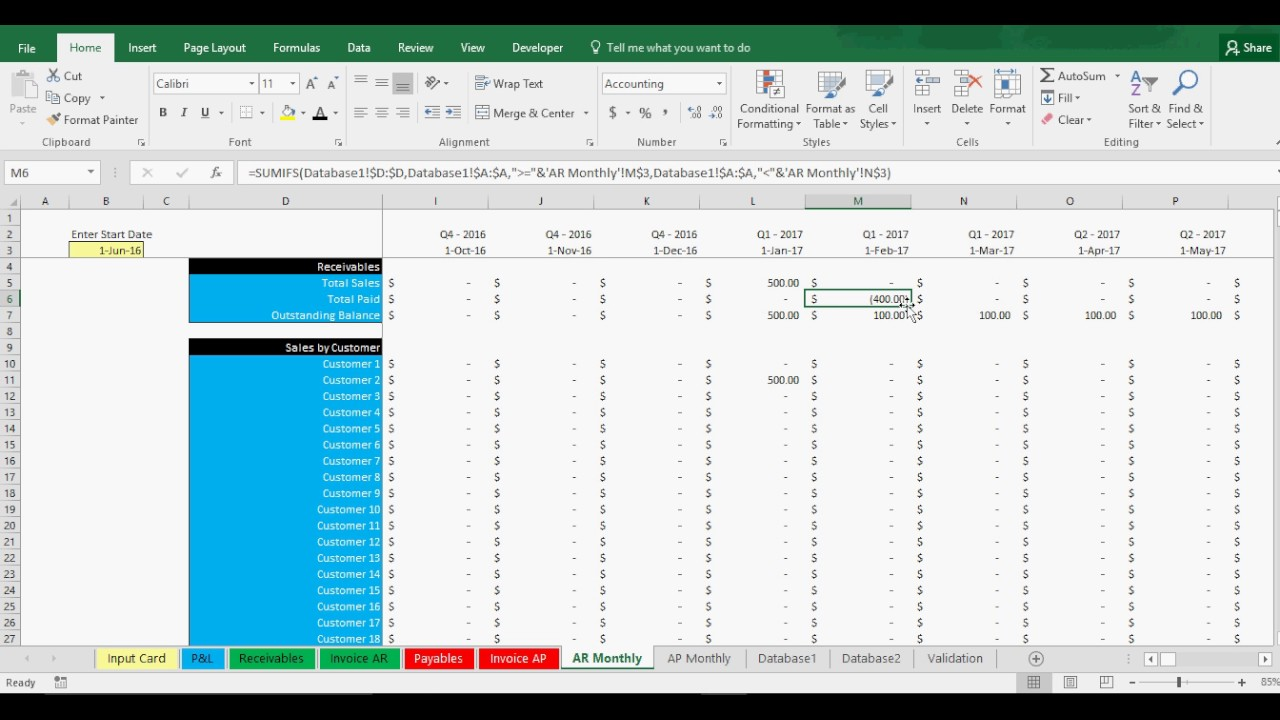 Download Accounts Payable And Receivable Template Excel For Accounts Payable And Receivable Template Excel Sample