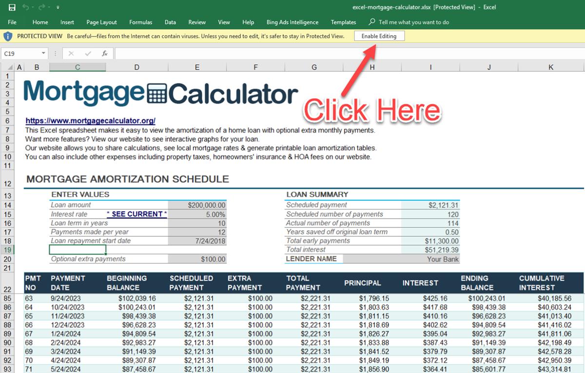 Download Amortization Schedule Excel Template With Amortization Schedule Excel Template For Google Spreadsheet