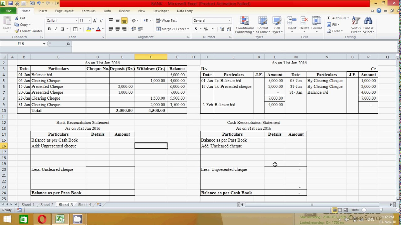 Download Bank Statement Format In Excel For Bank Statement Format In Excel For Personal Use