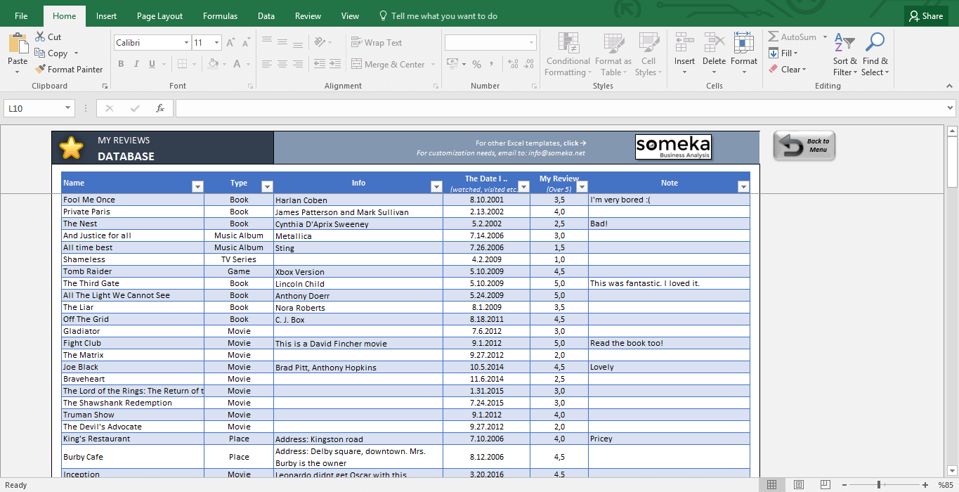 Download Excel Customer Database Template In Excel Customer Database Template Letter