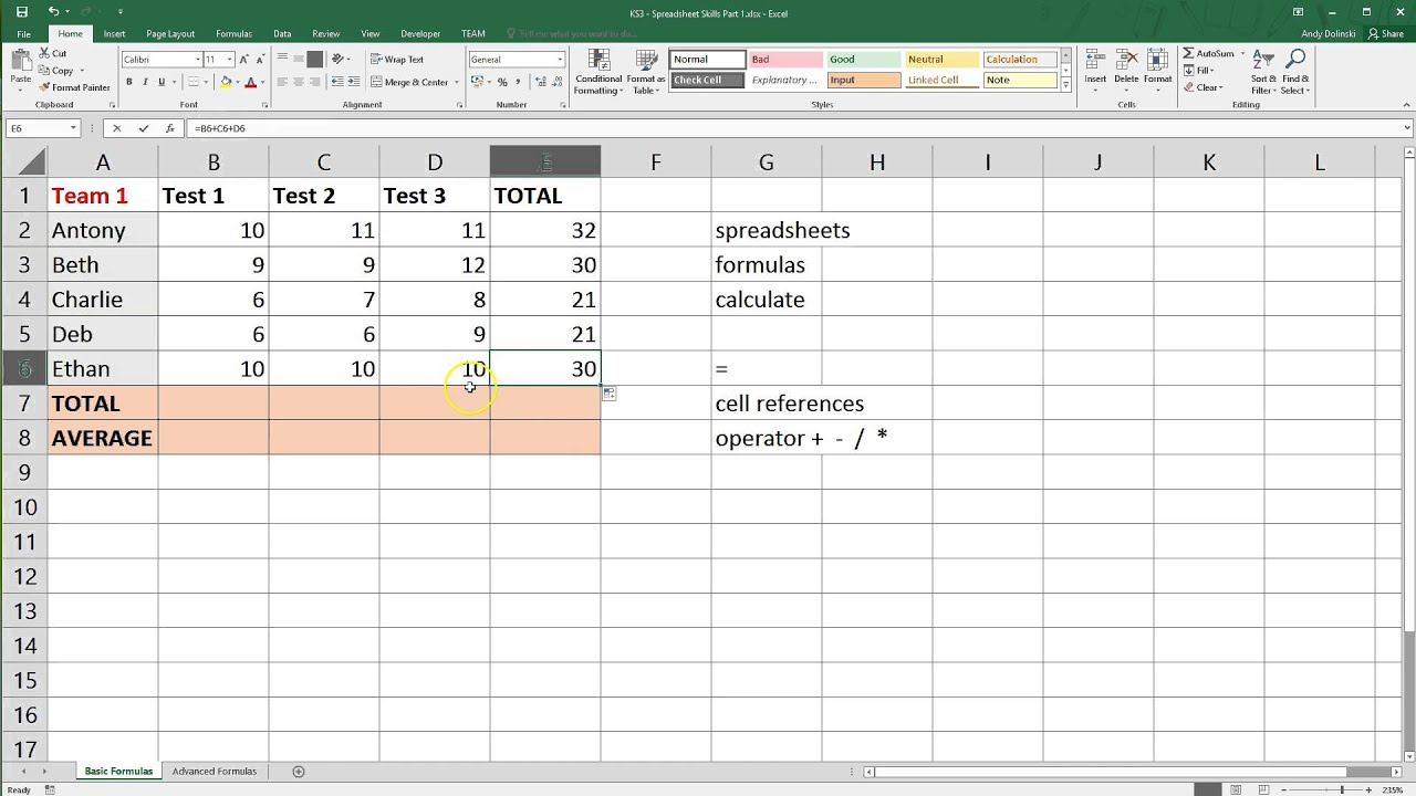 Download Excel Spreadsheet Basics In Excel Spreadsheet Basics Format