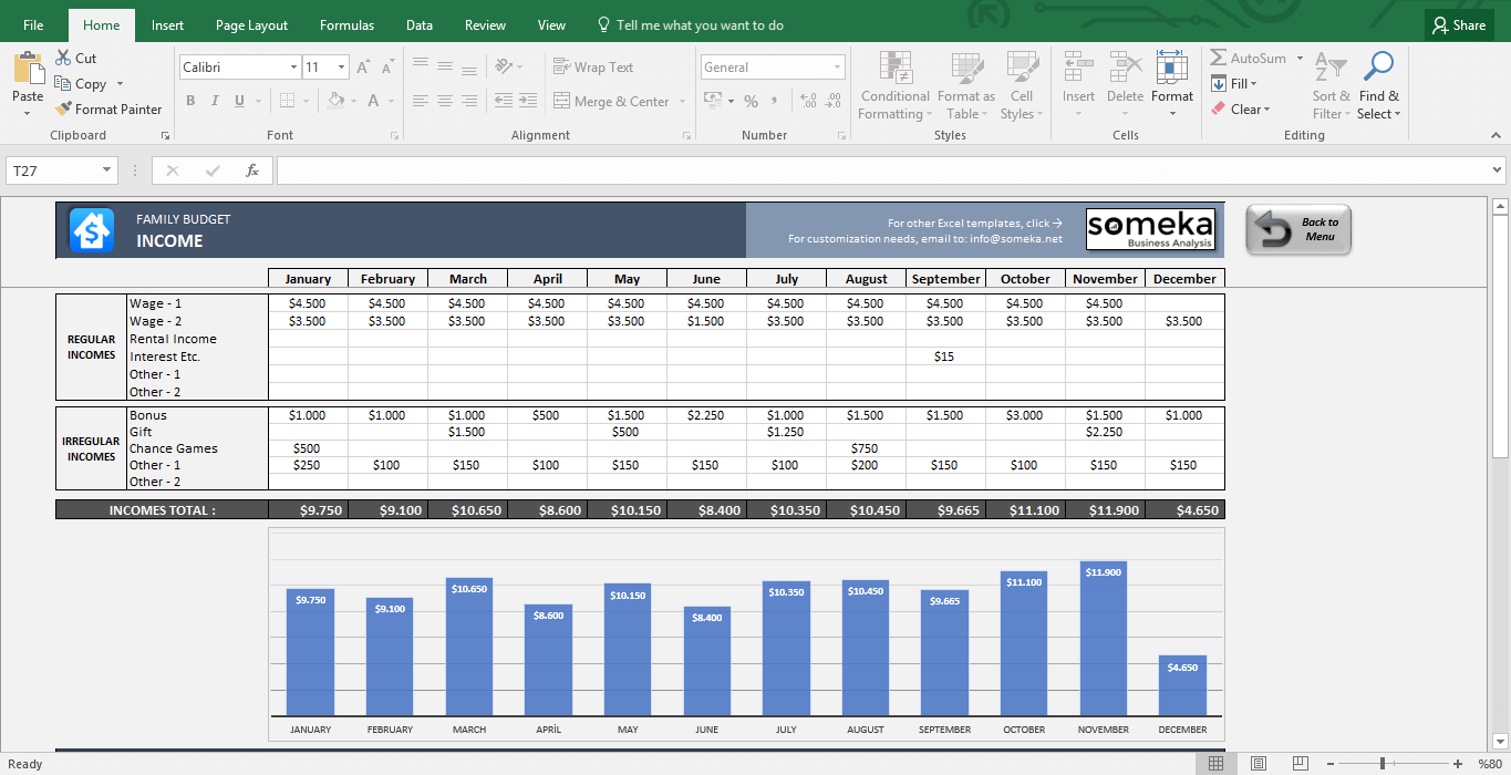 Download Household Budget Template Excel With Household Budget Template Excel Letters