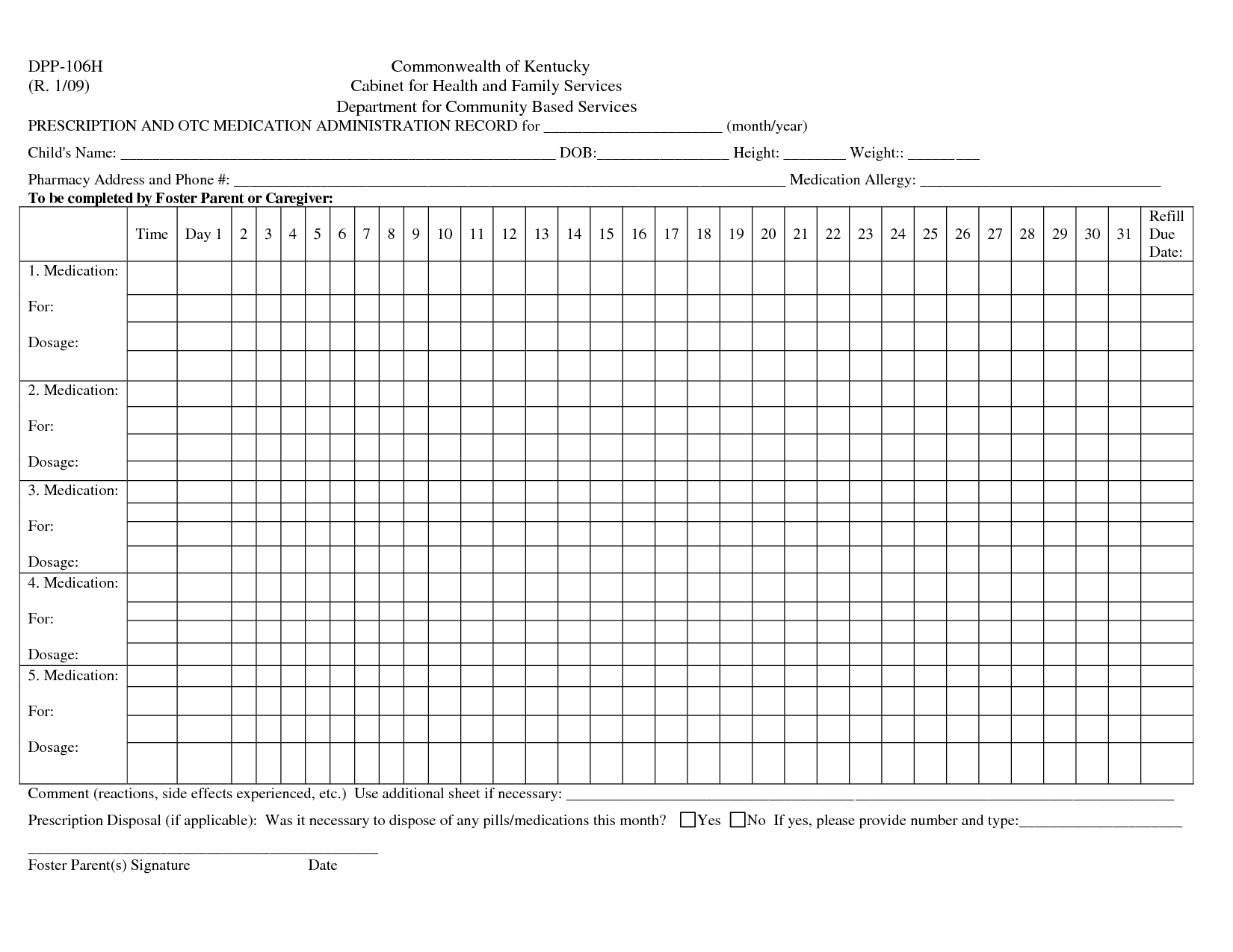 Download Medication Administration Record Template Excel In Medication Administration Record Template Excel Free Download
