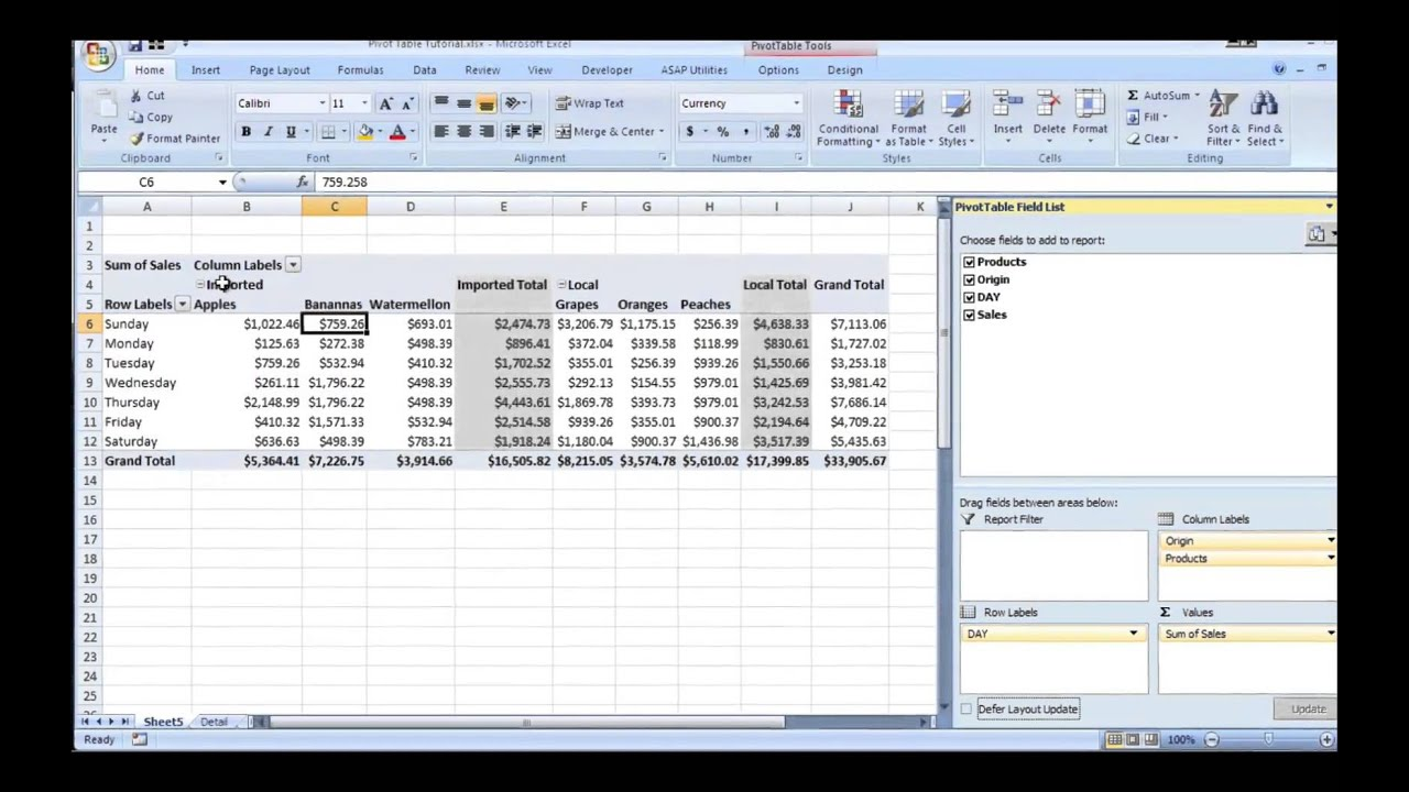 Download Pivot Table Excel Sample Intended For Pivot Table Excel Sample Xlsx