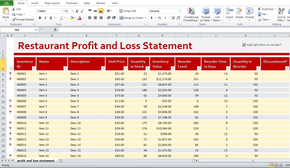 Download Profit And Loss Template Excel With Profit And Loss Template Excel In Excel