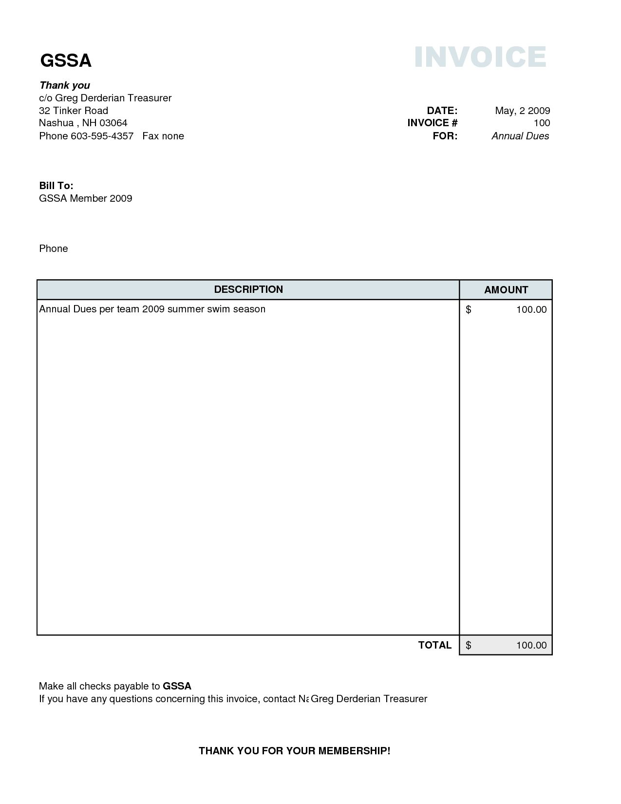 Download Simple Invoice Template Excel Throughout Simple Invoice Template Excel Letters