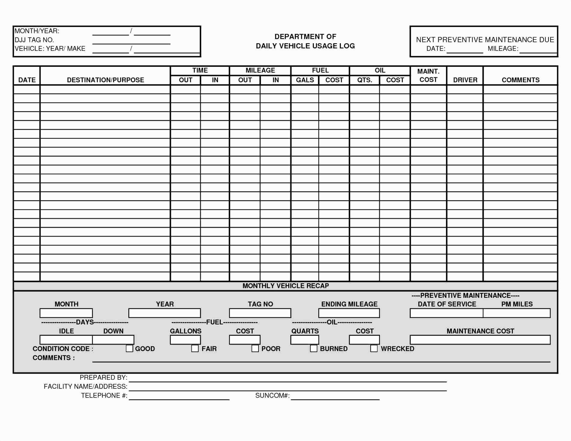 Download Truck Maintenance Schedule Excel Template And Truck Maintenance Schedule Excel Template Printable