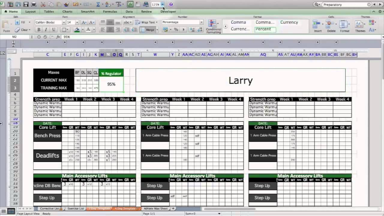 Download Weightlifting Excel Template To Weightlifting Excel Template Examples
