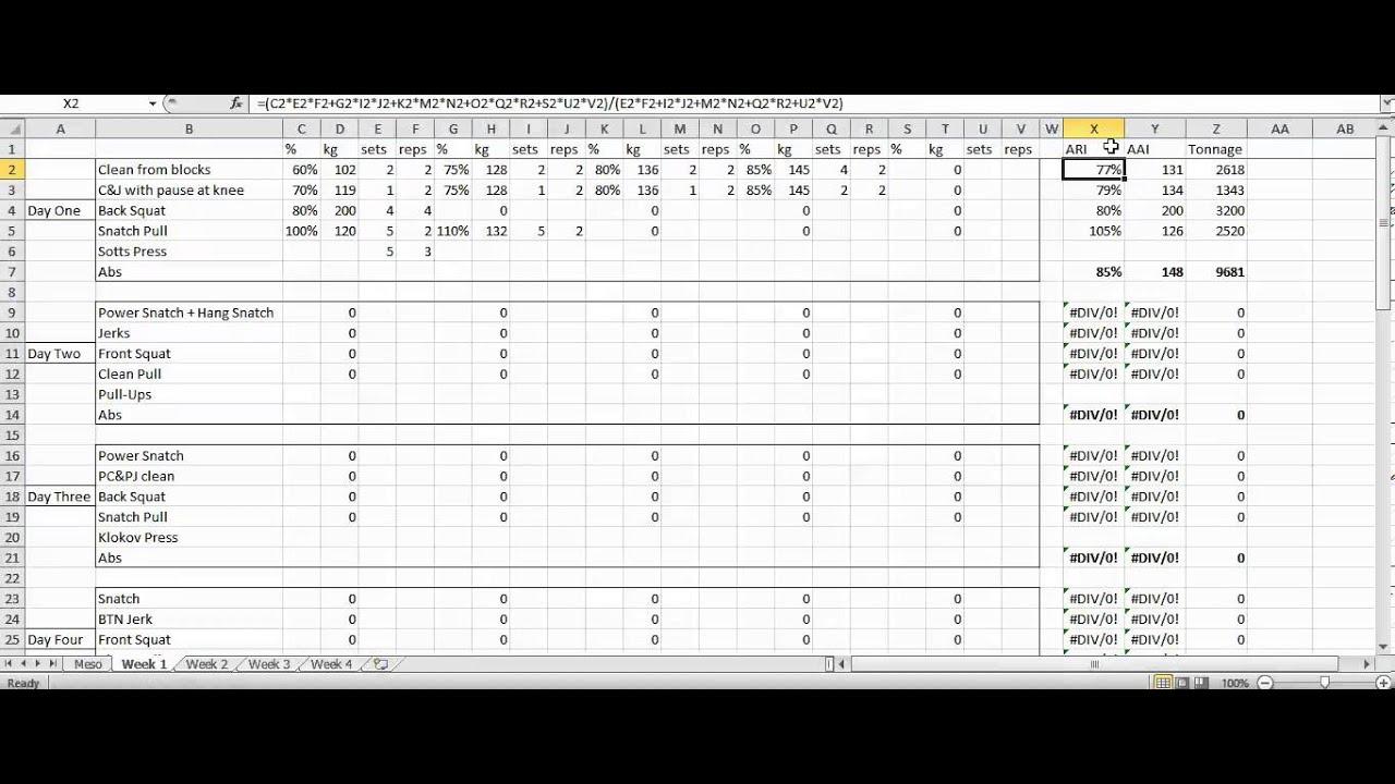 Download Westside Barbell Program Spreadsheet and Westside Barbell Program Spreadsheet Templates