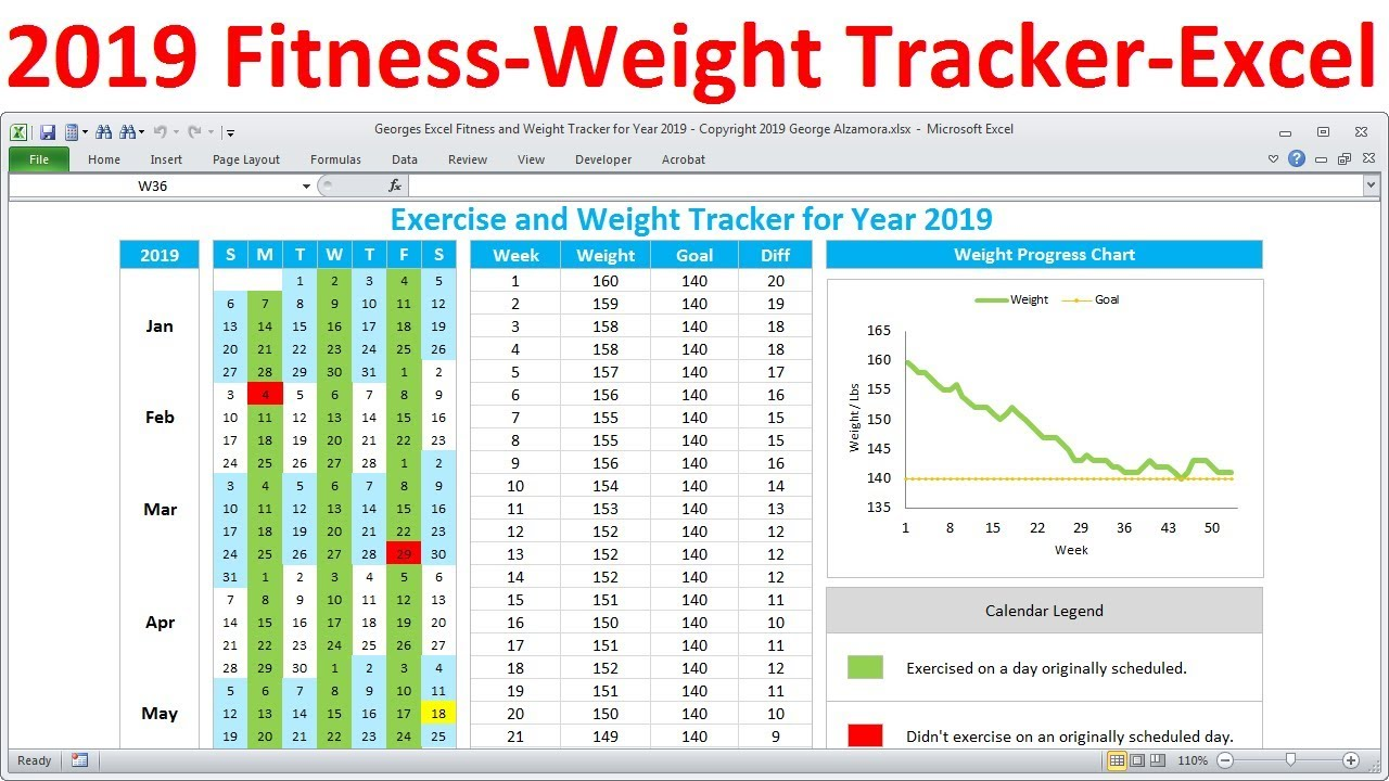 Download Workout Tracker Template Excel To Workout Tracker Template Excel For Google Sheet