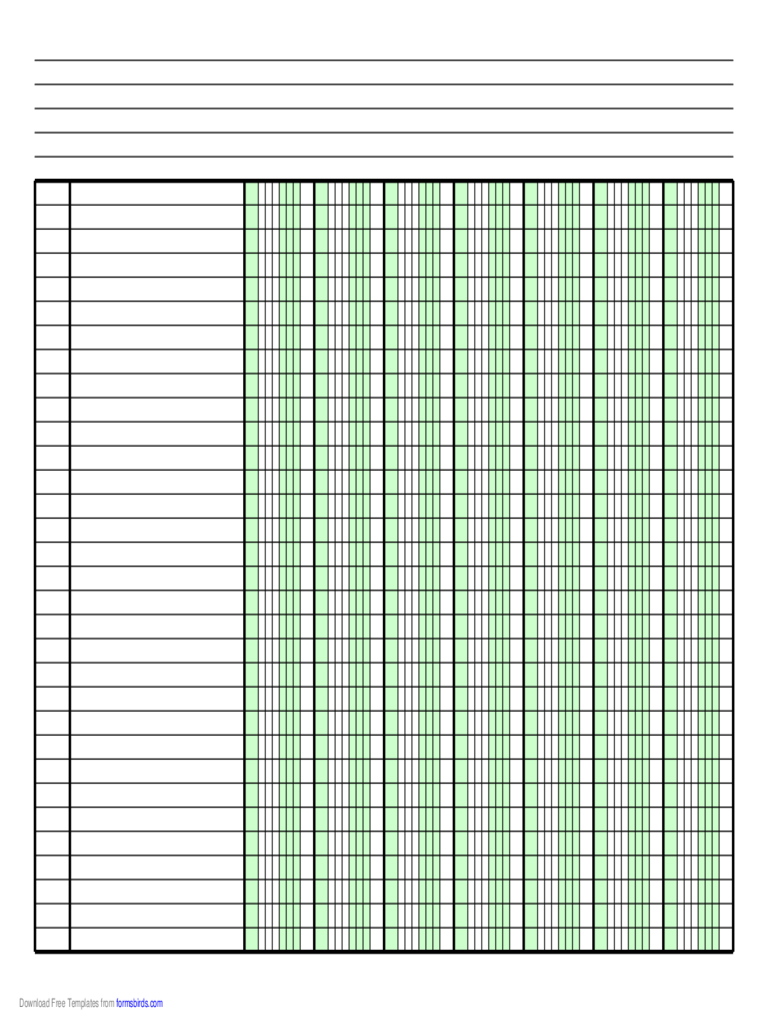 Example Of Columnar Pad Template For Excel And Columnar Pad Template For Excel For Free