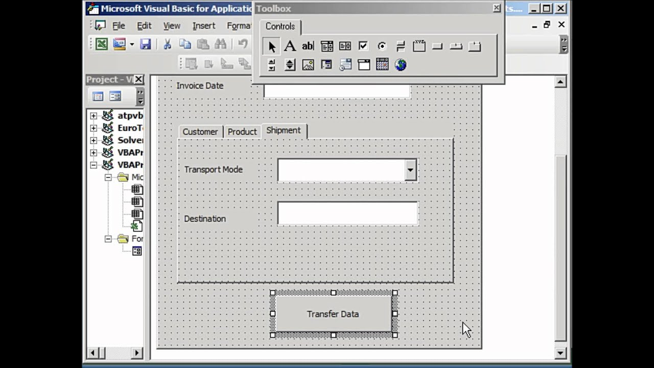 Example Of Excel Userform Spreadsheet Control Inside Excel Userform Spreadsheet Control Document