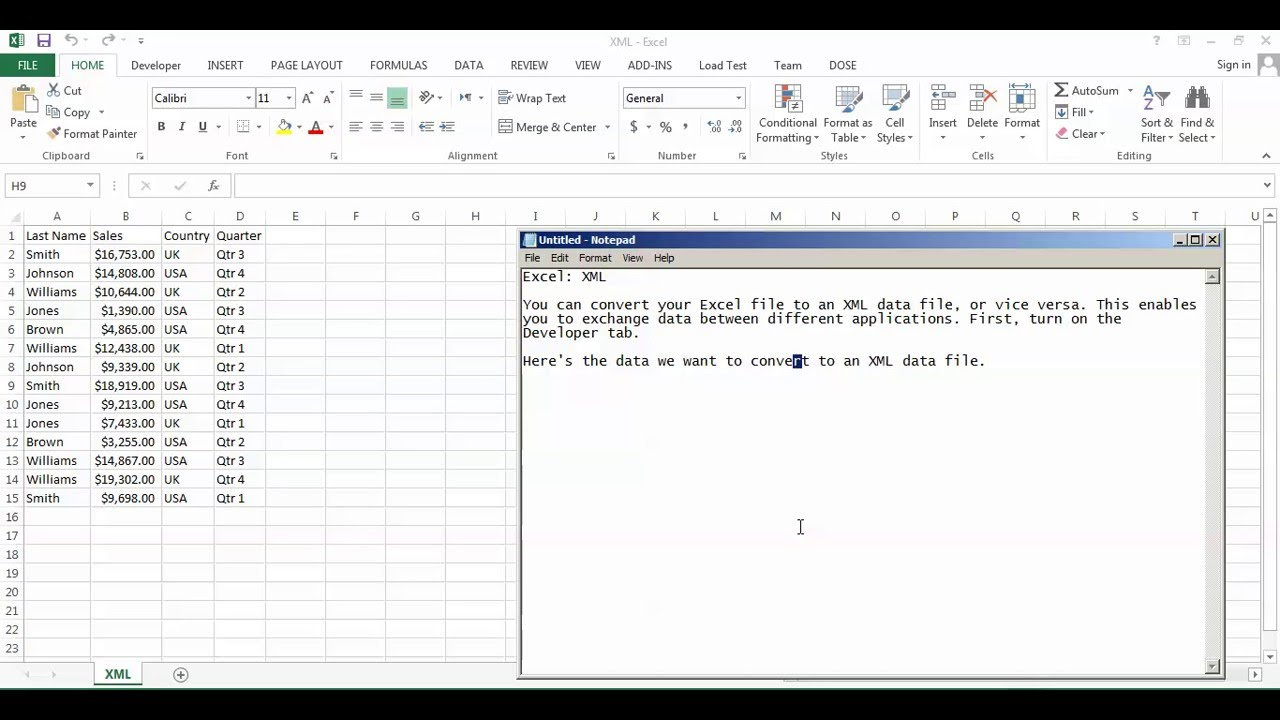 Example Of Excel Xml Format With Excel Xml Format Template