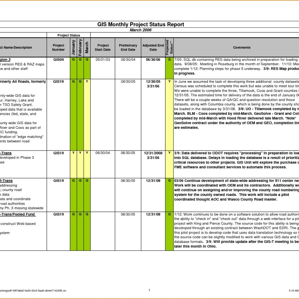 Example Of Project Daily Status Report Template Excel Intended For Project Daily Status Report Template Excel Free Download