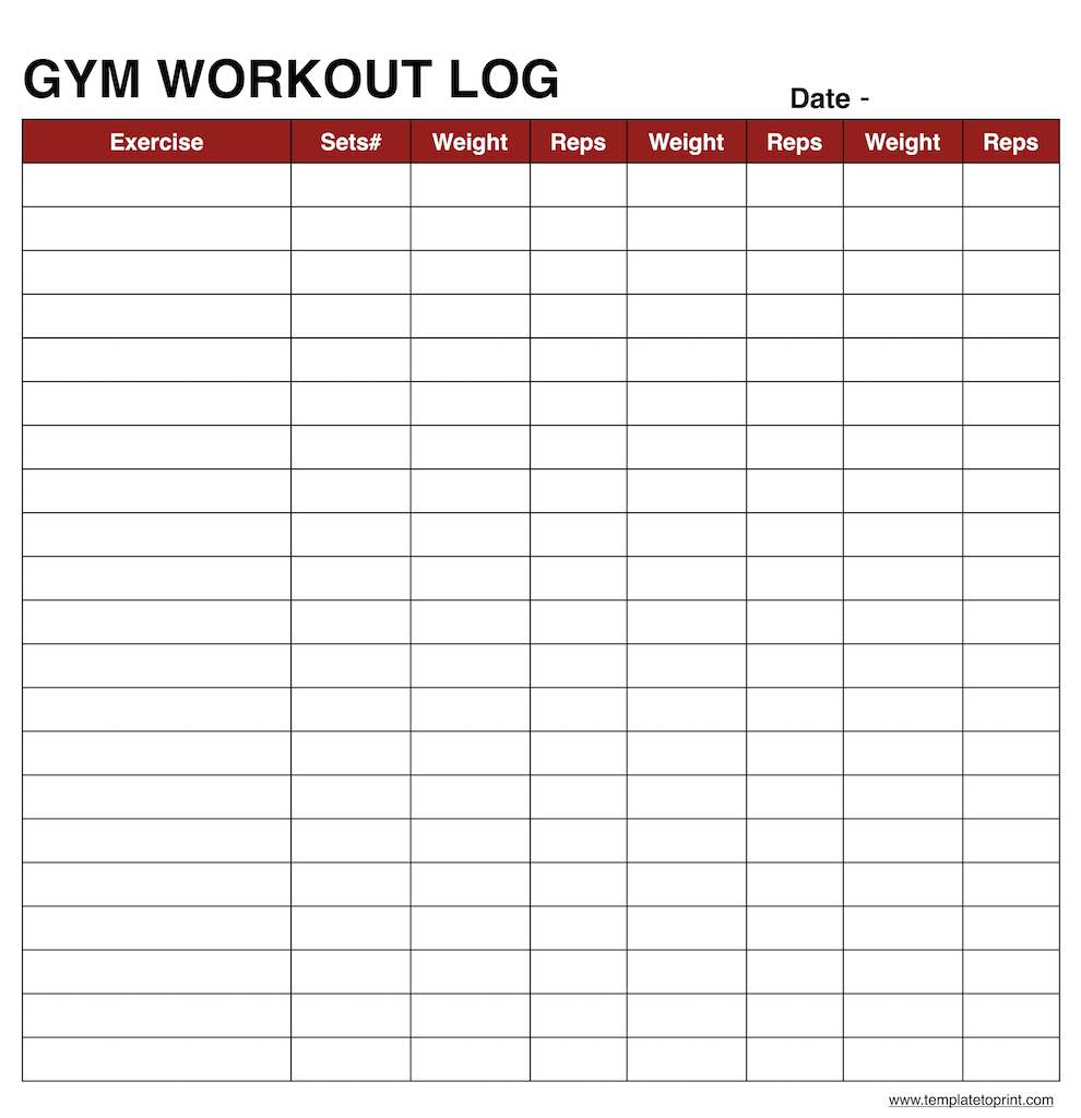 Example Of Workout Log Template Excel In Workout Log Template Excel Sheet