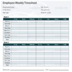 Examples of Basic Timesheet Template Excel and Basic Timesheet Template Excel Letter