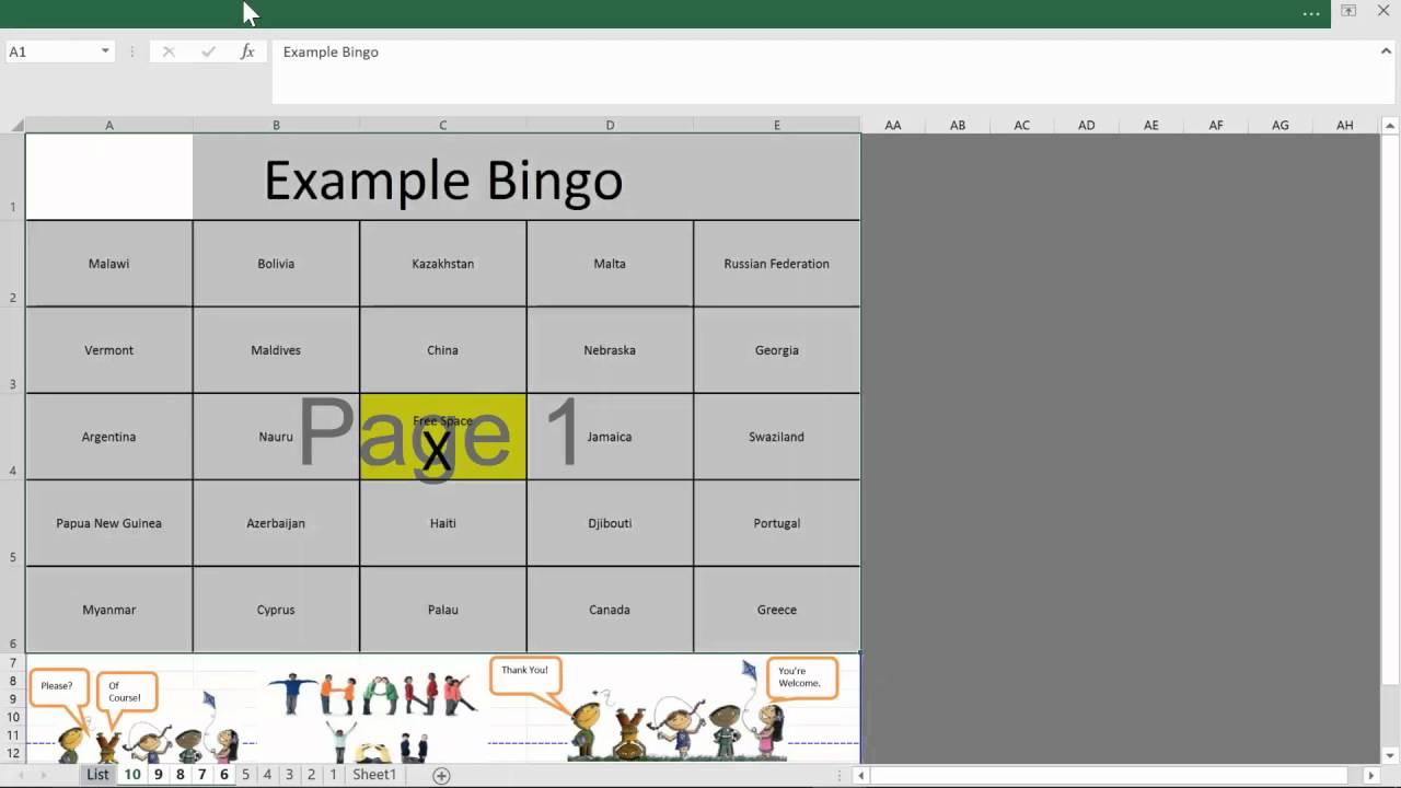 Examples Of Bingo Template Excel With Bingo Template Excel For Google Spreadsheet