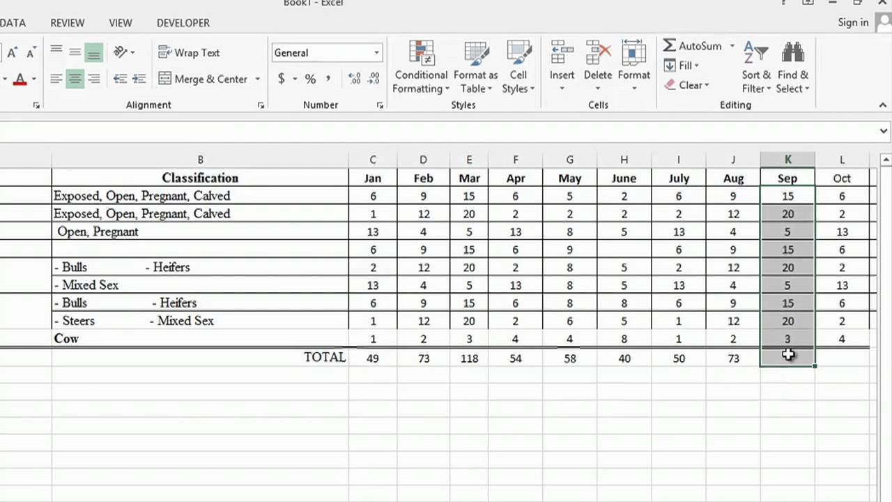 Examples Of Cattle Management Excel Template In Cattle Management Excel Template For Personal Use