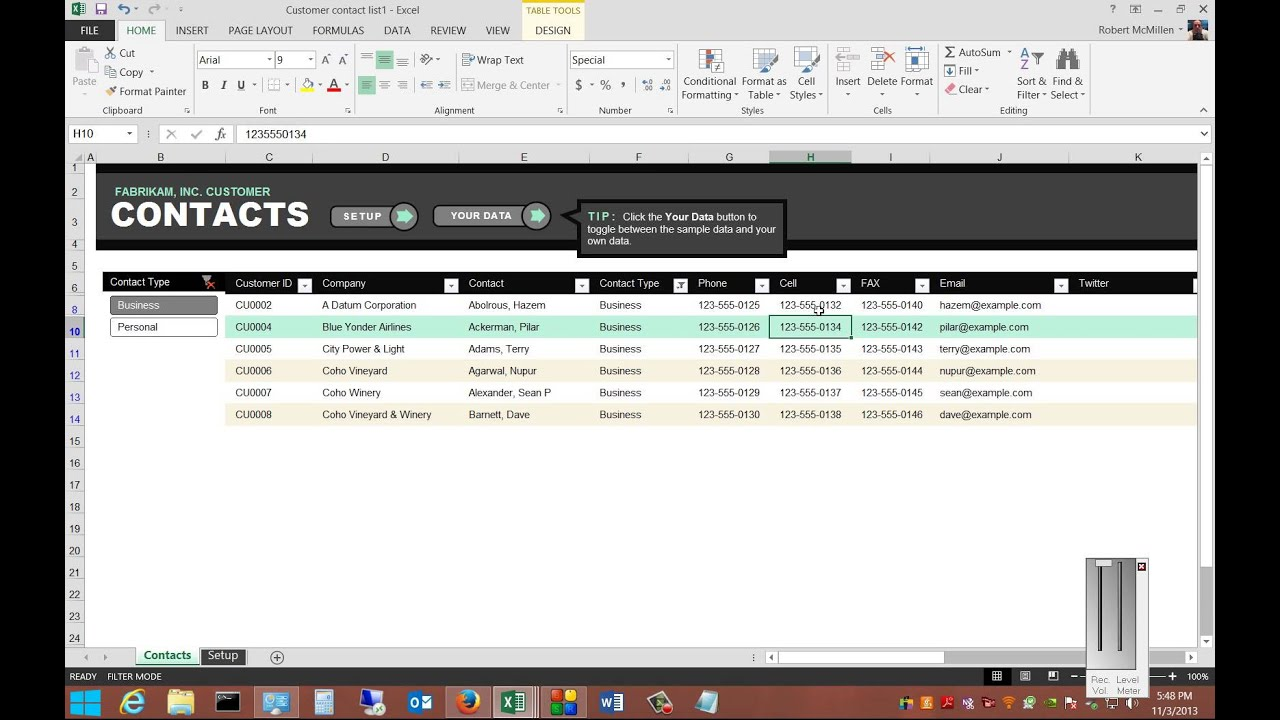 Examples Of Client Database Excel Template And Client Database Excel Template In Workshhet