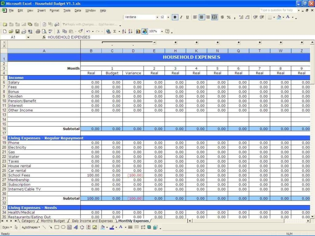 Examples Of Excel Spreadsheet For Small Business Income And Expenses Within Excel Spreadsheet For Small Business Income And Expenses In Workshhet