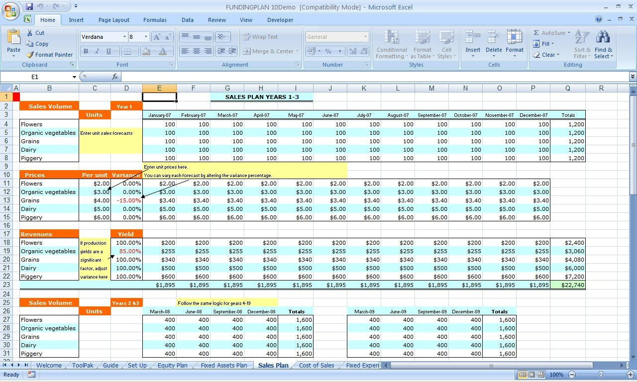 Examples of Financial Planning Worksheet Excel in Financial Planning Worksheet Excel for Personal Use