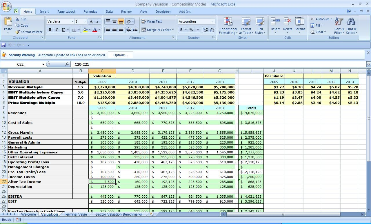Examples Of Free Business Plan Template Excel With Free Business Plan Template Excel Templates