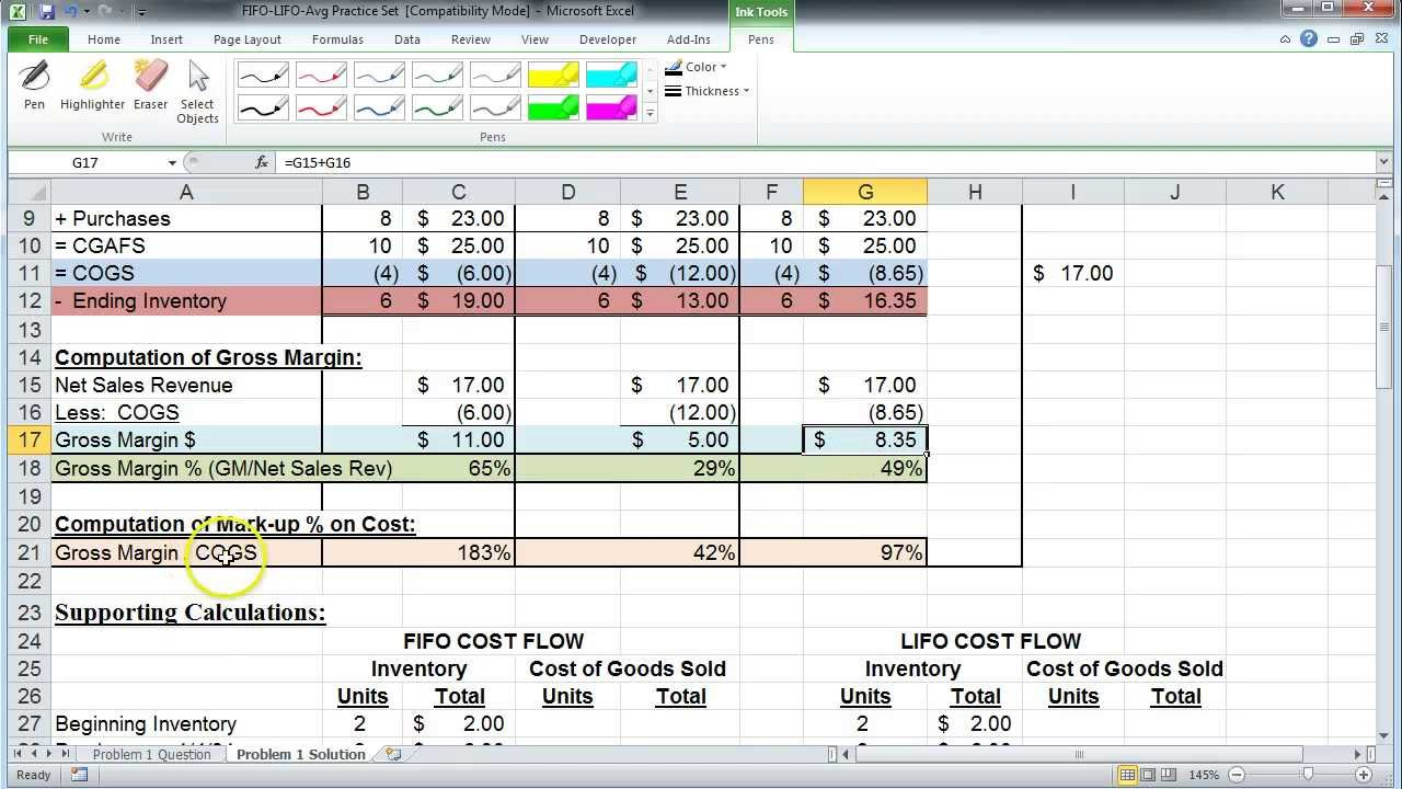 Examples Of Lifo Excel Template Within Lifo Excel Template Samples