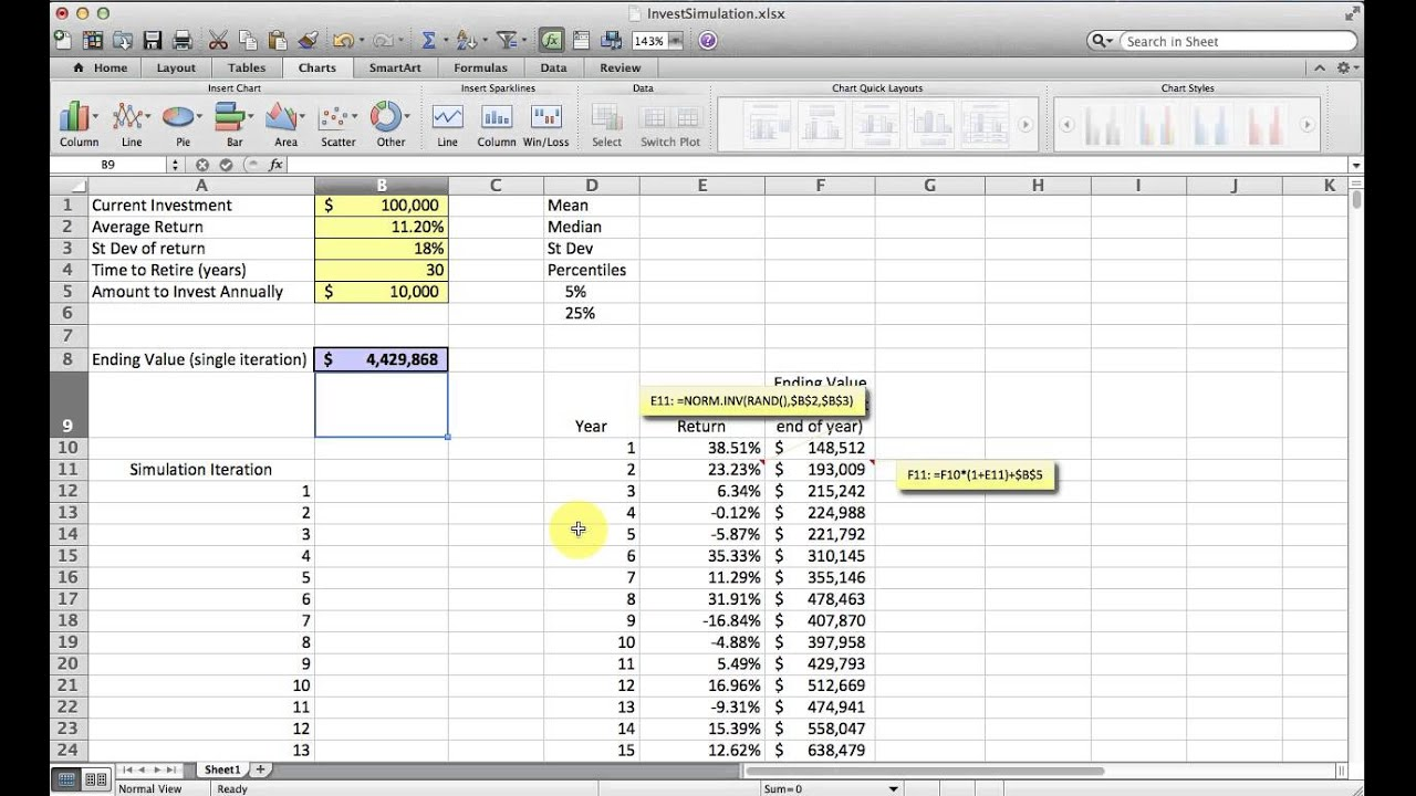 Examples Of Monte Carlo Simulation Excel Example To Monte Carlo Simulation Excel Example Letter