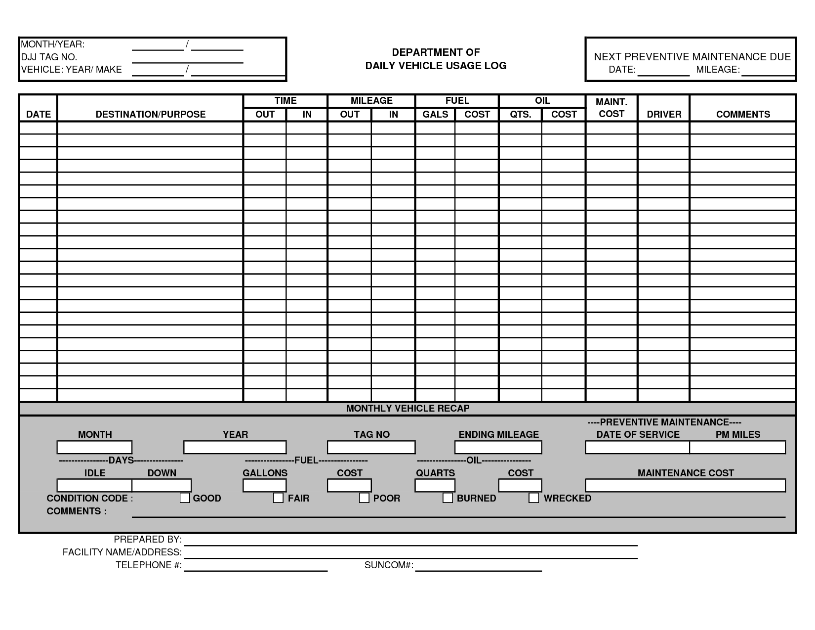 Examples Of Truck Maintenance Schedule Excel Template Intended For Truck Maintenance Schedule Excel Template Xlsx