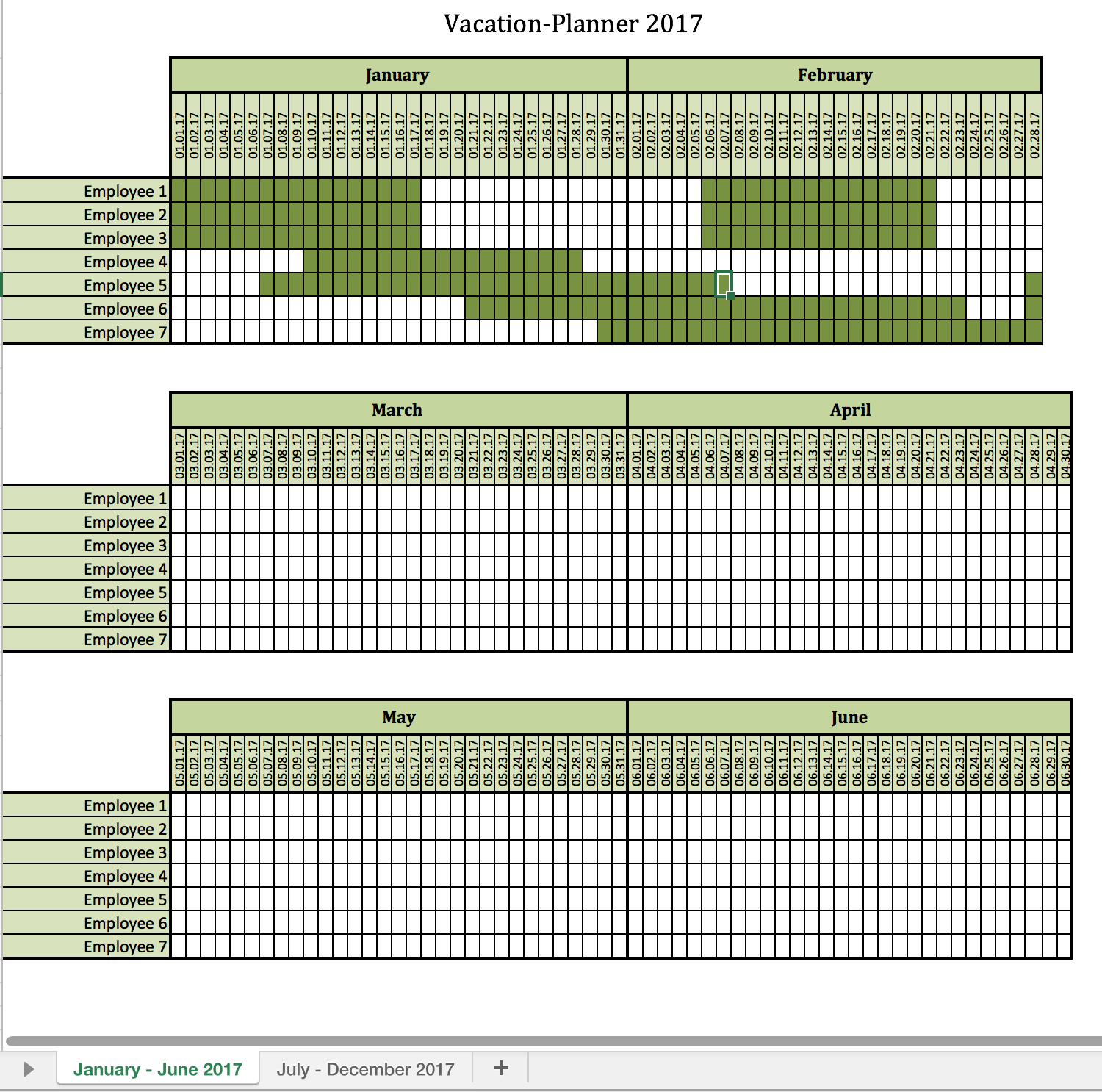 Examples Of Vacation Schedule Template Excel With Vacation Schedule Template Excel Examples
