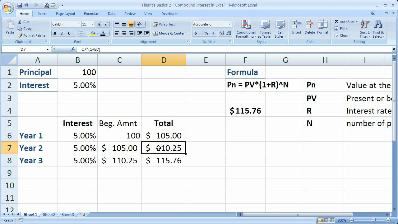 Free Compound Interest Excel Template With Compound Interest Excel Template Sheet