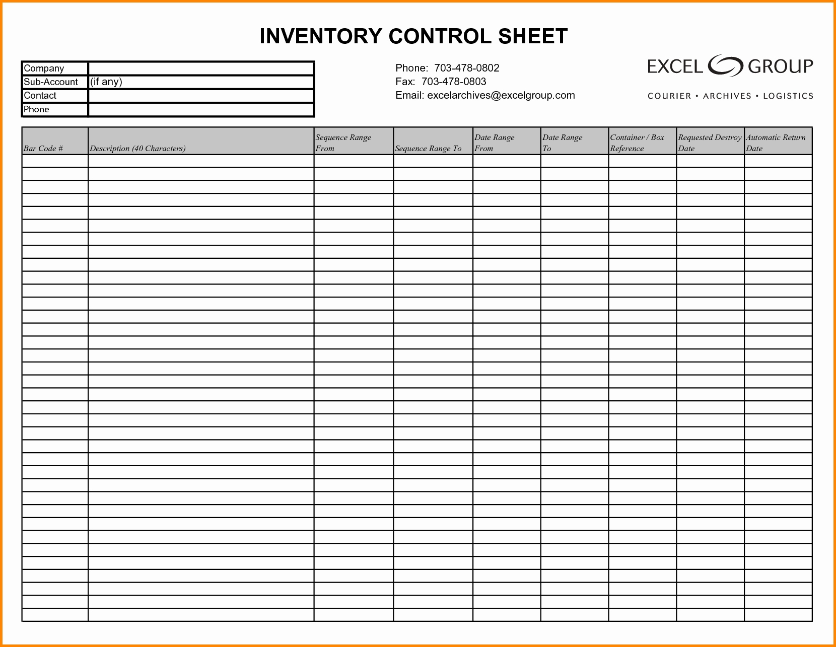Free Estate Inventory Excel Spreadsheet For Estate Inventory Excel Spreadsheet Template