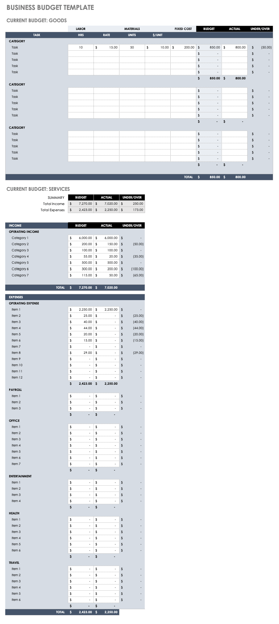 Free Excel Budget Example Throughout Excel Budget Example Example