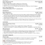 Free Excel Resume Template and Excel Resume Template Printable