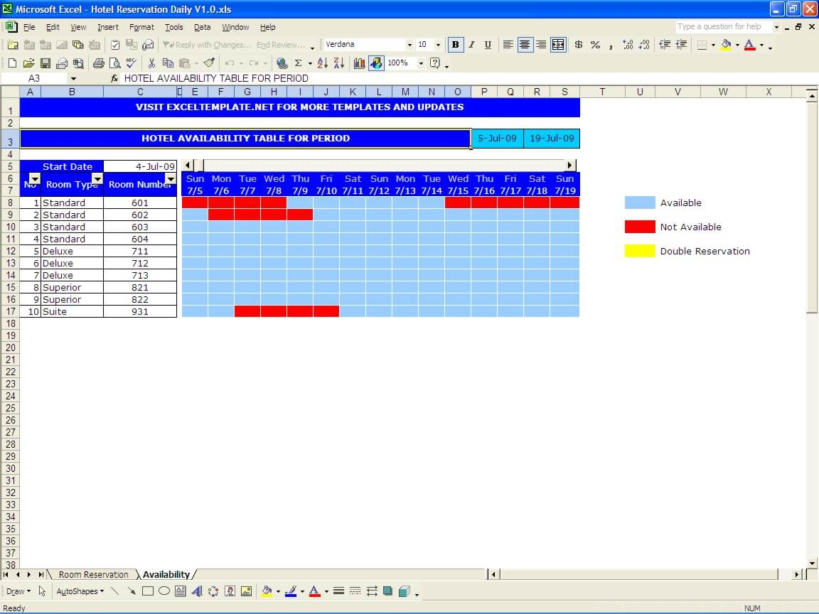 Free Hotel Room Booking Format In Excel To Hotel Room Booking Format In Excel In Spreadsheet