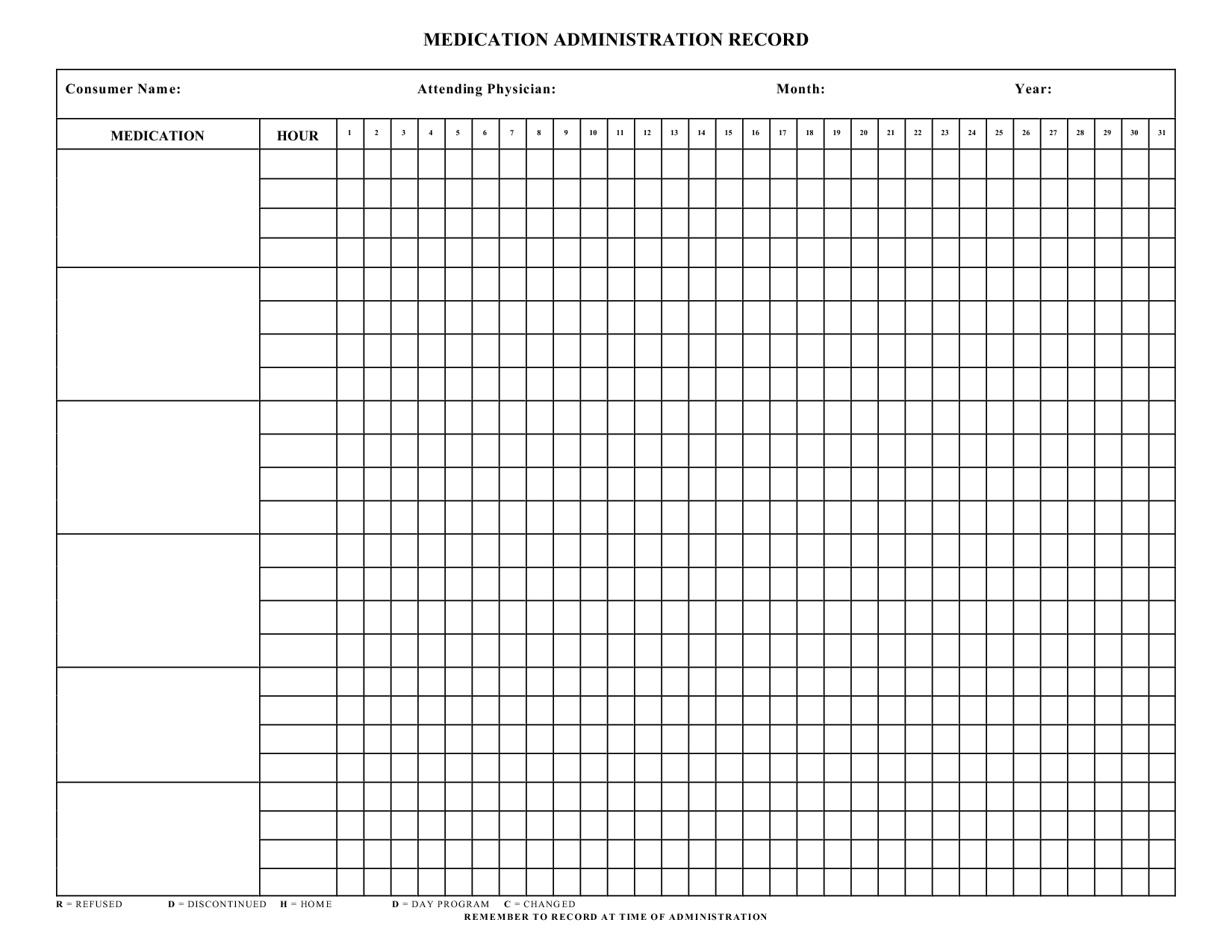Free Medication Administration Record Template Excel For Medication Administration Record Template Excel Samples