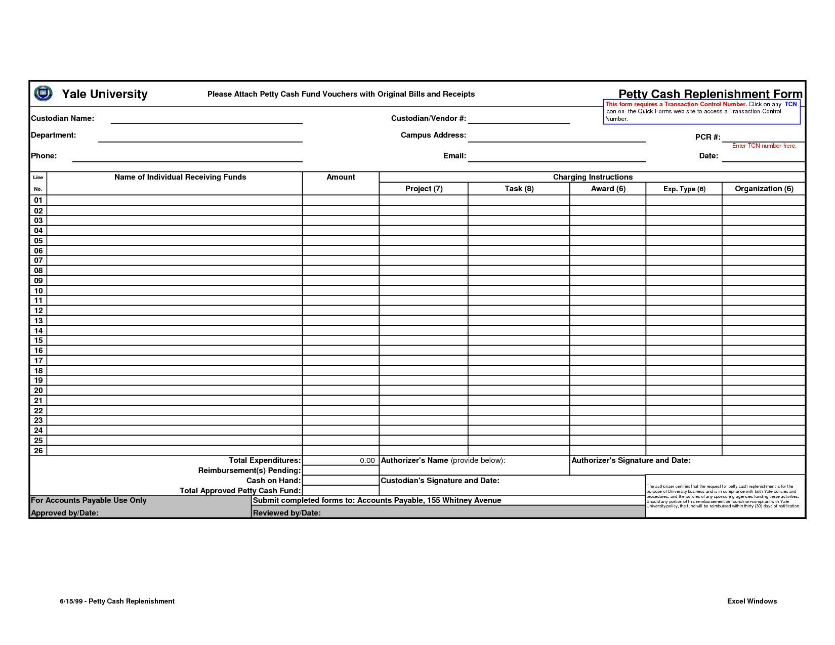 Free Petty Cash Voucher Template Excel Intended For Petty Cash Voucher Template Excel Format