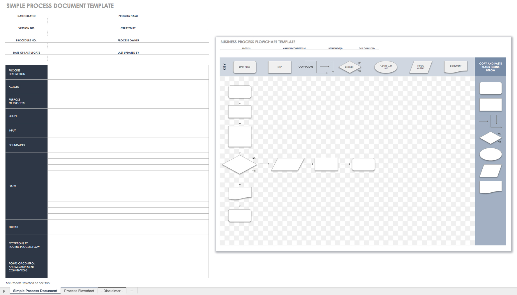 Free Process Document Template Excel For Process Document Template Excel For Google Spreadsheet